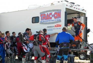Riders Meeting before leaving for the day